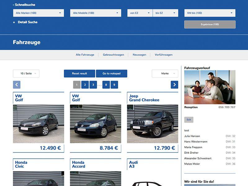 Fahrzeug-Grid 4 (mit Sidebar)