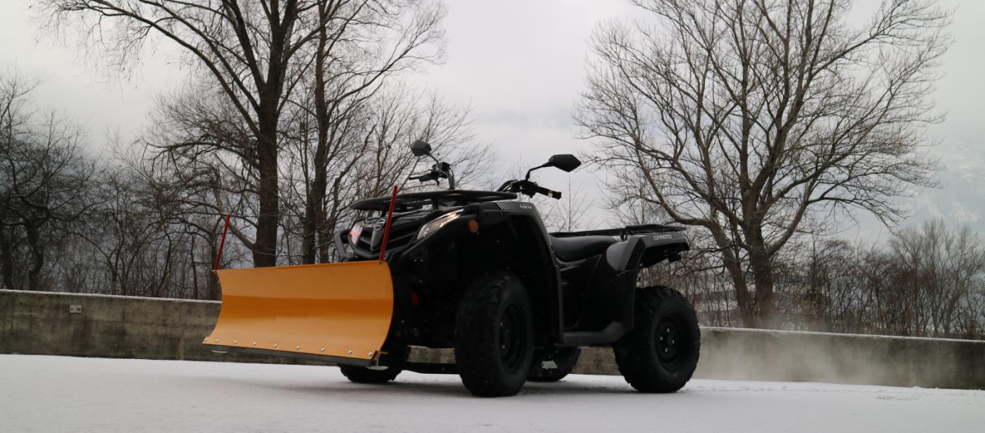 CF-Moto mit Schneepflug ab €5699,- neu inkl MwSt!